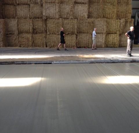 Glittet betongulv